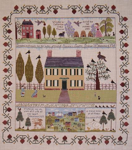"""My Peaceable Kingdom"" Sampler by Catherine Theron"
