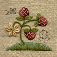 Strawberries Design by Barbara Jackson